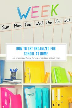 How to Get Organized for School at Home - Life Storage Blog Back To School Organization, Back To School Hacks, Going Back To School, Too Cool For School, School Routines, School Schedule, Planners, Apps, All Schools