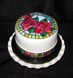 Stained Glass Cake - by CuteologyCakes @ CakesDecor.com - cake decorating website