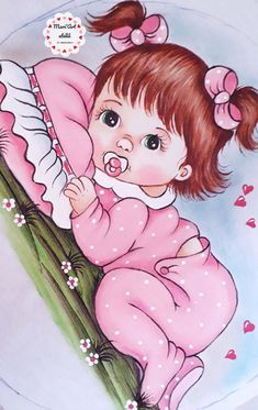 Art Drawings Sketches, Cute Drawings, Theme Mickey, Radha Krishna Pictures, Baby Art, Painting For Kids, Girl Pictures, Decoupage, Hello Kitty