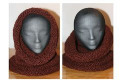 Ravelry: Scarf + Neck warmer + Hood = Snood pattern by Karla Rae