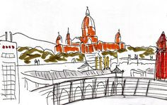 Barcelona (Montjuïc & Plaça Espanya) drawing