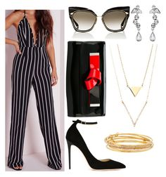 """""""Untitled #544"""" by gabbyriera on Polyvore featuring Missguided, Jimmy Choo, Givenchy, Giorgio Armani, Dita and Kate Spade"""