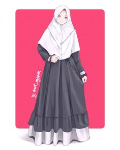 Image may contain: one or more peopleYour scarf is a vital bit while in the clothes of ladies together with hi Hijabi Girl, Girl Hijab, Muslim Girls, Muslim Women, Muslim Fashion, Hijab Fashion, Anime Art Girl, Anime Girls, Hijab Style Tutorial