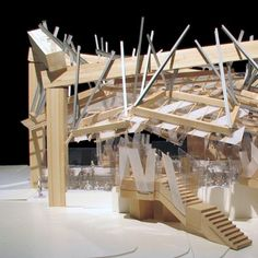 Serpentine Gallery Pavilion 2008 model by Gehry