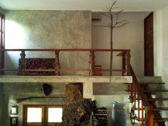 ไอเดียตกแต่งบ้าน ปูนขัดมัน Mezzanine Loft, Thai House, Wooden Cottage, House In Nature, Loft House, Natural Garden, Nook, Home And Garden, House Design