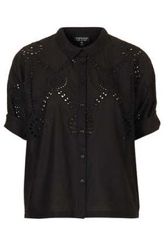 Embroidered Border Shirt - Tops  - Clothing