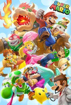 Mario E Luigi, Super Mario And Luigi, Super Mario Art, Super Mario World, Super Mario Bros Games, Nintendo Super Smash Bros, Super Mario Brothers, Mario Comics, Mario Fan Art