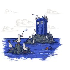 Get This Parody Doctor Who / Tardis / Finding Nemo Design now at TeeFury.com! Available in Men and Women's sizes.