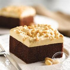 Peanut Butter Topped Chocolate Cake from Pillsbury™ Baking