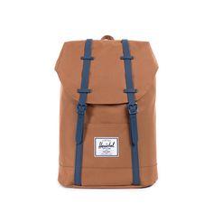 Herschel Retreat Backpack Caramel/Navy Rubber