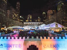 An ice castle is coming to Bryant Park for its Winter Carnival