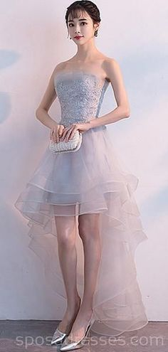 High Low Gray Strapless Cheap Homecoming Dresses Online, Cheap Short Prom Dresses, You are in the right place about Homecoming Dress lulus Cheap Short Prom Dresses, Cute Homecoming Dresses, Tight Dresses, Club Dresses, Wedding Dresses, Graduation Dresses, Ball Dresses, Tie Front Dress, Ribbed Knit Dress