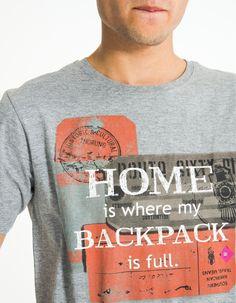 T-Shirt Com Estampado MO