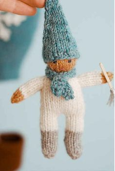 Knitted Jack Frost Doll
