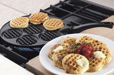 mini waffle pan http://everymomneeds.com/mini-waffle-pan/