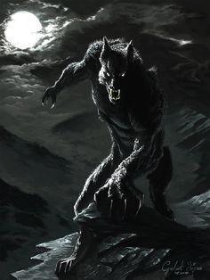 Lycantrope/werewolf in the dark of the night