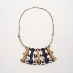 Galalith and Chrome necklace, Jakob Bengel, 1930s, € 180.00
