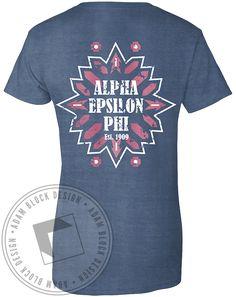 Alpha Epsilon Phi Pattern Pocket T-Shirt