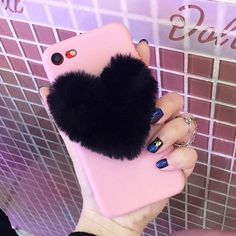 Lovely Furry Love Hearts Cute hair Phone Case for Samsung Galaxy plus plus Grand Prime TPU Back Cover Samsung Galaxy, Galaxy S8, Cell Phone Protection, Telephone Samsung, Heart Shaped Rings, Black Heart, Aliexpress, Cute Hairstyles, Love Heart
