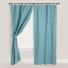 http://www.worldmarket.com/product/jaya-aqua-melange-canvas-curtains-set-of-2.do?=fn    Jaya Aqua Melange Canvas Curtains, Set of 2 | World Market