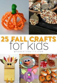 15 {super easy} Fall Crafts for Kids! - Get crafty this fall with these easy and fun harvest crafts activities for kids. Each idea is creative and unique.