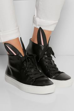 Bunny leather high-top sneakers| Finds+ Minna Parikka   @lola_hardy  Bunny Sneakers!!!