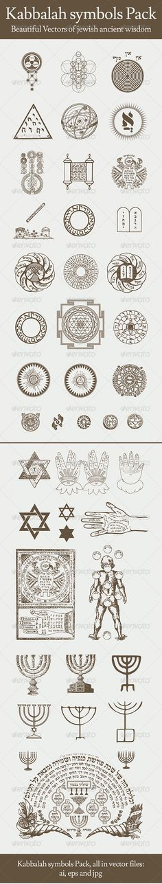 Buy Kabbalah Symbols Pack by on GraphicRiver. Beautiful Vectors of jewish ancient wisdom- Kabbalah All this symbols in vector: iIllustartor, EPS, PDF and JPG Symbols And Meanings, Sacred Symbols, Ancient Symbols, Chakra Symbols, Alchemy Symbols, Magic Symbols, Tarot, Kreis Tattoo, Jagua Henna