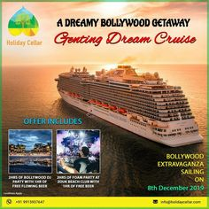 Get a dreamy bollywood getaway on #Dreamcruise with this amazing double celebration with double Genting Dream cruise offer only at #Holidaycellar.  Hurry, Don't let this opportunity pass... Call or WhatsApp for itinerary: 99159 37647 holidaycellar.com #BOLLYWOODEXTRAVAGANZACRUISE #newyear2020 #GentingDreamcruise   #cruises #Travel #TravelDeal #luxurycruise #cruising #Dreamcruisedeal #cruisePackage #luxury #TraveltheWorld #Dreamcruiseoffer  #AmazingDeal #trips #cruisepackage #cruise…