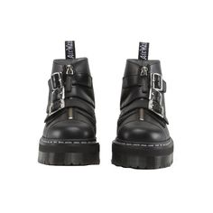 AGGY STRAP - DR MARTEN ❤ liked on Polyvore featuring shoes and boots