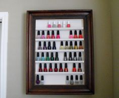 My thrift store picture frame nail polish rack - Imgur