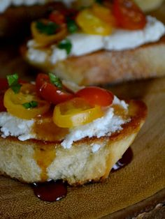 Sweet Ricotta Bruschetta Recipe makes a gorgeous appetizer for Shavuot