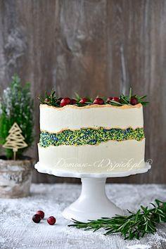 Tort cytrynowy z lemon curd (w stylu fault line cake) Lemon Curd, Impreza, Ale, Sweets, Cook, Snacks, Recipes, Sweet Pastries, Goodies