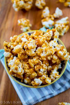Homemade Caramel Corn by sallysbakingaddiction.com- sticky, crunchy, sweet, and irresistible!