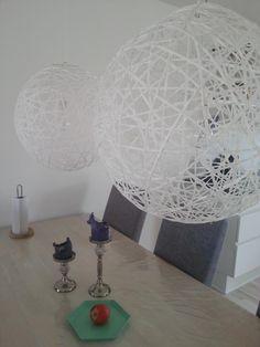 Heine og Simone: DIY spisebordslamper