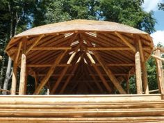 roundwood timber frame building