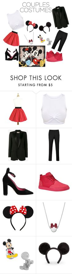 """""""Mickey And Minnie"""" by monteshasgatlin ❤ liked on Polyvore featuring Yves Saint Laurent, Ted Baker, Oscar Tiye, Timberland, Disney and Cufflinks, Inc."""