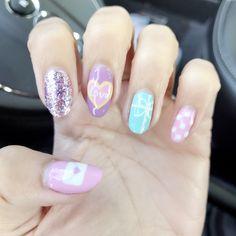 Valentine love letter nails #nailart