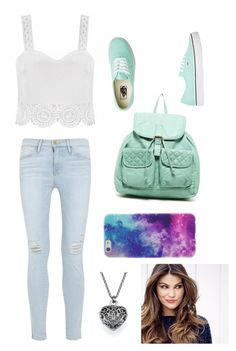 """Untitled #3422"" by briquel1328 ❤ liked on Polyvore featuring T-shirt & Jeans, Frame Denim, Vans and ULTA"