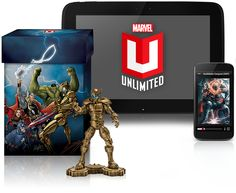 Marvel Unlimited Plus Digital Comics Subscription. This is perfect for the comic book lover with a smartphone or tablet. Access over 13,000 digital Marvel comics. #GeekGifts