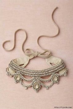 I know this is a necklace but it would make a cut dog collar Roupas Bordadas e2a6c06ed330c