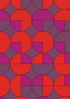 Geometric Circles Art Print by Piia Põdersalu | Society6 red purple