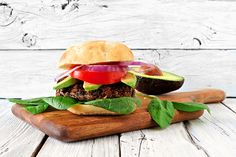 Yay 🎇✨🎈 My Black Bean Veggie Pattie was just featured on Dr. Oz🎈is✨Black Veggie Pattie: This recipe will change the way you think about leftover rice and beans in the fridge. Carmelized Onions And Mushrooms, Veggie Patties, Black Bean Veggie Burger, Bean Burger, Food Log, Salmon Burgers, Veggie Burgers, Cooking On A Budget, Black Beans