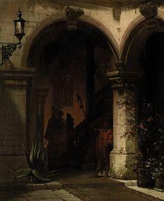 Friedrich Carl Mayer (German, 1824–1903) Title: Scharwache vor einem Portal eines Nürnberger Bürgerhauses