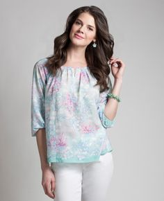 under the sea peasant top Peasant Tops, Reflection, My Style, Women's Shirts, Pink, Olsen, Europe, Blouses, Fashion