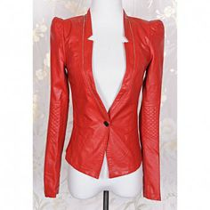Fashionable Solid Color Zipper Long Sleeve Coat For Women 3b6cc7b4d