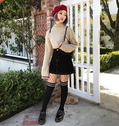 "18.4k Likes, 106 Comments - K A R E N • Y E U N G (@iamkareno) on Instagram: ""I refuse to wear pants so thigh highs it is erythang from @mixxmix_usa. Shoes are…"""