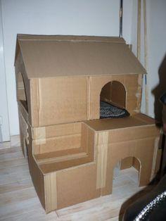 Chat Cartoooon t The post Chat Cartoooon t appeared first on Katzen. Cardboard Cat House, Diy Cardboard, Diy Bunny Toys, Cat Castle, Pet Station, Cat House Diy, Diy Cat Tree, Cat Hacks, Cat Room