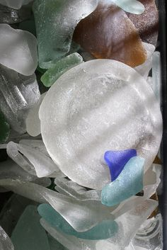 Sea Glass | Flickr - Photo Sharing!  I searched for sea glass along the southern coast of Maine and the Jersey shoreline.
