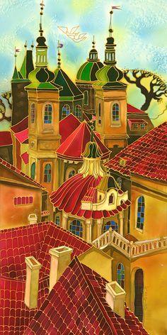 Red Roofs ~ Prague ~ Yelena Sidorova