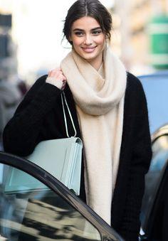 "runwayandbeauty: ""Taylor Marie Hill outside Dolce & Gabbana Fall 2015, Milano. """